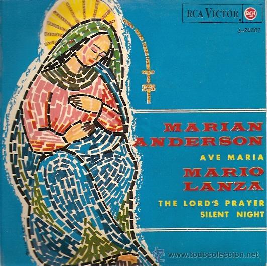 MARIAN ANDERSON / MARIO LANZA EP SELLO RCA VICTOR AÑO 1965 (Música - Discos de Vinilo - EPs - Clásica, Ópera, Zarzuela y Marchas)