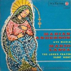Discos de vinilo: MARIAN ANDERSON / MARIO LANZA EP SELLO RCA VICTOR AÑO 1965. Lote 17289689