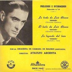 Discos de vinilo: ATAULFO ARGENTA EP SELLO ALHAMBRA AÑO 1958. Lote 17289950