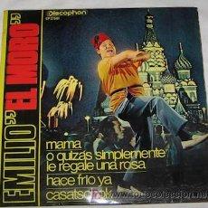 Discos de vinilo: SINGLE DE EMILIO EL MORO. Lote 22812029