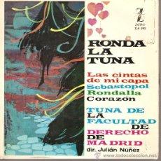Discos de vinilo: EP TUNA - TUNA DE LA FACULTAD DE DERECHO DE MADRID: LAS CINTAS DE MI CAPA, SEBASTOPOL, ETC . Lote 22482751