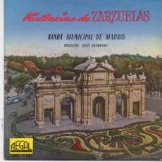 Discos de vinilo: BANDA MUNICIPAL DE MADRID,LA VERBENA DE LA PALOMA,FANTASIA DEL 58. Lote 17302250