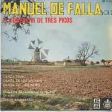 Discos de vinilo: ORQUESTA DE CONCIERTOS DE MADRID,MANUEL DE FALLA VOL 2 DEL 59. Lote 17302485