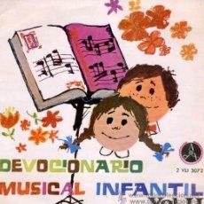 Discos de vinilo: DEVOCIONARIO MUSICAL INFANTIL - ESCOLANÍA DE NUESTRA SEÑORA DEL RECUERDO, 1966. Lote 24603565