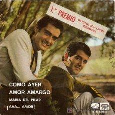 Discos de vinilo: EP ORIGINALDEL DUO DINAMICO-COMO AYER- AÑO 1966 . Lote 19693773
