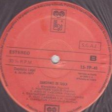 Discos de vinilo: LP CANCIONES DE TASCA - AUVI - RIANXEIRA , POUTPURRI VASCO DESDE SANTURCE A BILBAO , ISLAS CANARIAS. Lote 24575831