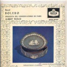 Discos de vinilo: RAVEL - ALBERT WOLFF (EP DECCA SDGE 80361). Lote 17335356
