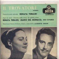 Discos de vinilo: IL TROVATORE - RENATA TEBALDI (EP DECCA SDGE 80099). Lote 17335468