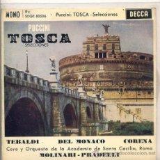 Discos de vinilo: TOSCA - RENATA TEBALDI (EP DECCA SDGE 80506). Lote 17335496