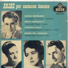 Discos de vinilo: ARIAS POR CANTANTES FAMOSOS - (EP DECA SDGE 80211). Lote 17336003