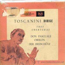 Discos de vinilo: ARTURO TOSCANINI - TRES OBERTURAS (DOBLE EP RCA 3B26009). Lote 17336034
