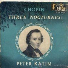 Discos de vinilo: FEDERICO CHOPIN - PETER KATIN (PIANO) EP DECCA SDGE 80147. Lote 17336482