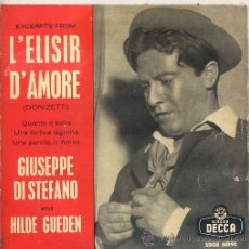 Discos de vinilo: GIUSEPPE DI STEFANO - L'ELISIR D'AMORE (EP DECCA SDGE 80190). Lote 17336700