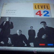 12 - MAXI - LEVEL 42 - lessons in love polygram 1985 usa