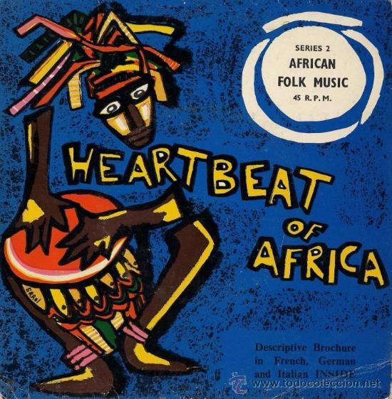 HEARTBEAT OF AFRICA - AFRICAN FOLK MUSIC - VINILO EDITADO EN KENIA (Música - Discos de Vinilo - EPs - Étnicas y Músicas del Mundo)