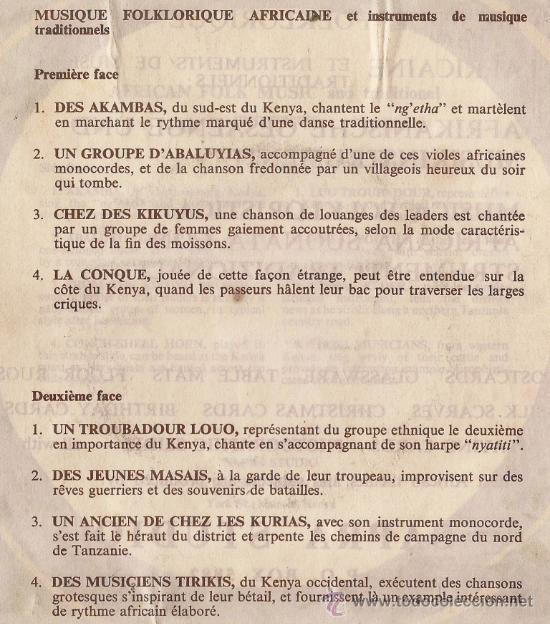 Discos de vinilo: HEARTBEAT OF AFRICA - AFRICAN FOLK MUSIC - VINILO EDITADO EN KENIA - Foto 2 - 27363838