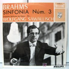 Discos de vinilo: SINFONIA N.3 (BRAHMS) - WOLFGANG SAWALLISCH - PHILIPS 1964 BPY. Lote 27218095