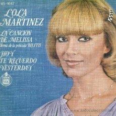 Discos de vinilo: LOLA MARTÍNEZ - LA CANCIÓN DE MELISSA (DE LA PELÍCULA BILITIS) - 1978. Lote 26316936