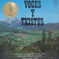 Discos de vinilo: VOCES Y TXISTUS - AGRUPACIÓN CORAL MANUEL IRADIER DE VITORIA - 1967. Lote 27434118