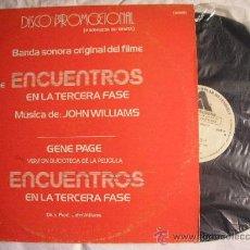 Discos de vinilo: UXV ENCUENTROS EN LA TERCERA FASE MAXI SINGLE PROMOL GENE PAGE EXCLUSIVO RADIO TVE DISCOTECAS NUEV. Lote 26860901