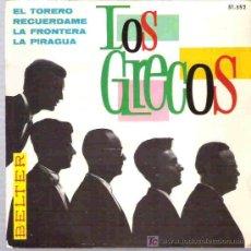 Discos de vinilo: LOS GRECOS - EL TORERO ** EP BELTER 1966 ** MUY DIFICIL. Lote 19828330