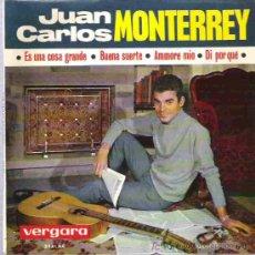 Discos de vinilo: JUAN CARLOS MONTERREY - BUENA SUERTE ** EP VERGARA 1964. Lote 19691801