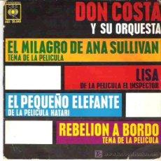 Discos de vinilo: DON COSTA Y SU ORQUESTA - EL MILAGRO DE ANA SULLIVAN ** EP CBS 1963. Lote 17432965