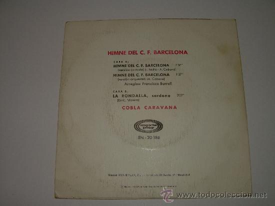 Discos de vinilo: HIMNE DEL C.F. BARCELONA - Foto 2 - 23132902