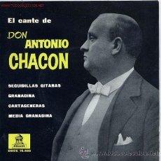 Disques de vinyle: ANTONIO CHACÓN. Lote 47912285