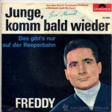Discos de vinilo: FREDDY / JUNGLE, KOMM BALD WIEDER / DAS GIBT'S NUR AUF DER REEPERBAHN (SINGLE ORIGINAL ALEMAN). Lote 17495519