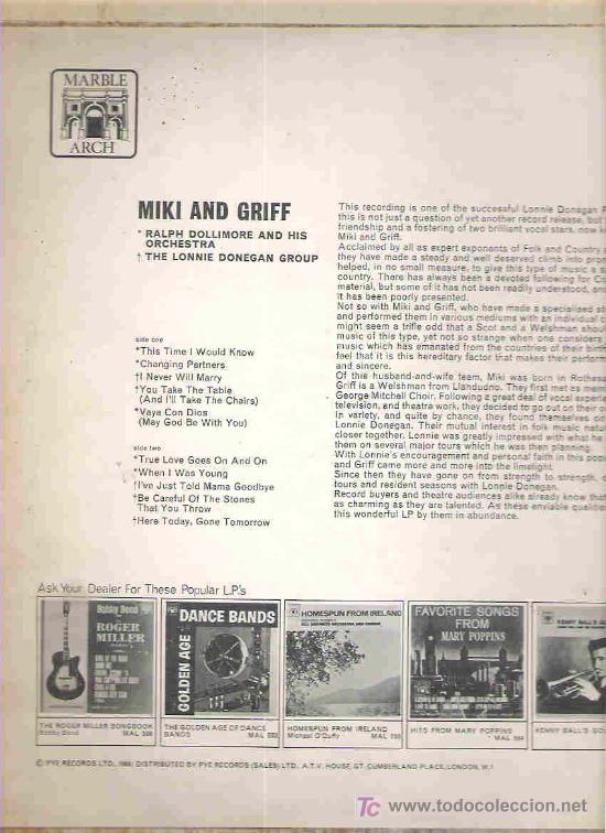 Discos de vinilo: miki & griff - the lonnie donegan group - ralph dollimore and his orchestra ** lp 1961 england - Foto 2 - 17533600