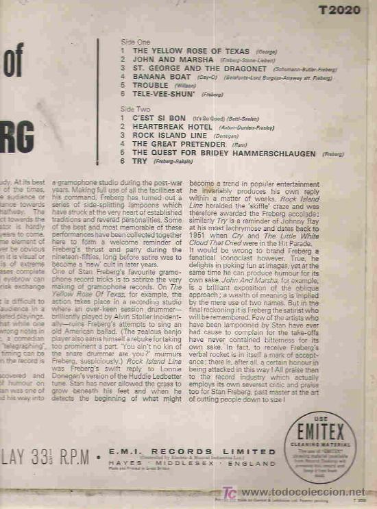 Discos de vinilo: the best of stan freberg - c`est si bon ** capitol england 1963 - Foto 2 - 17533463