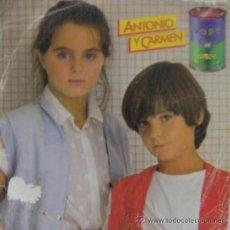 Discos de vinilo: ANTONIO Y CARMEN - SOPA DE AMOR, 1982. Lote 21079329