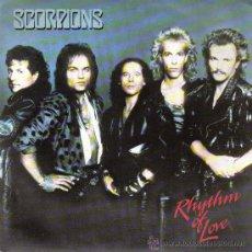 Discos de vinilo: SCORPIONS-RHYTHM OF LOVE + WE LET IT ROCK... YOU LET IT ROLL SINGLE 1988 SPAIN. Lote 107968592