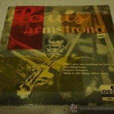 Discos de vinilo: LOUIS ARMSTRONG & ORCHESTRA, SWEDEN 1957 EP DECCA. Lote 17533699