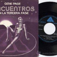 Discos de vinilo: GENE PAGE ENCUENTROS EN LA 3ª FASE BSO SPAIN. Lote 26361357