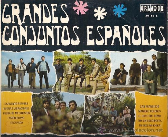 GRANDES CONJUNTOS ESPAÑOLES 10¨ (25 CTMS.) DEL SELLO ORLADOR AÑO 1958 LOS TONKS, LOS SALVAJES... (Música - Discos - LP Vinilo - Grupos Españoles 50 y 60)