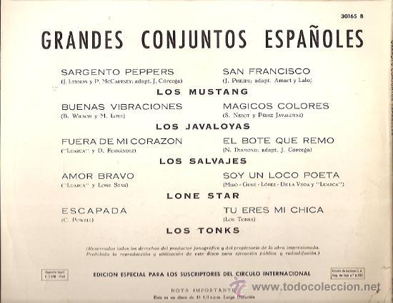 Discos de vinilo: GRANDES CONJUNTOS ESPAÑOLES 10¨ (25 CTMS.) DEL SELLO ORLADOR AÑO 1958 LOS TONKS, LOS SALVAJES... - Foto 2 - 17569063