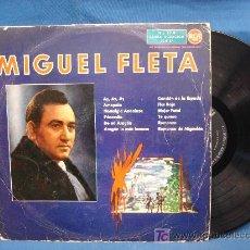Discos de vinilo: - MIGUEL FLETA - 3L10157 - RCA ESPAÑA 1961 - VER FOTOS. Lote 25529850
