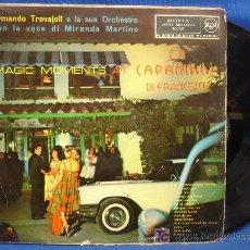 Discos de vinilo: - ARMANDO TROVAJOLI E LA SUA ORCHESTRA - MAGIC MOMENTS - RCA 1960 - VER FOTOS. Lote 17642286