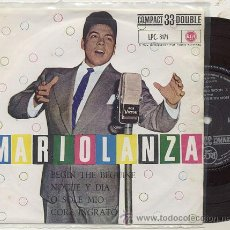 Discos de vinilo: EP 33 RPM / MARIO LANZA / BEGIN THE BEGUINE-O SOLE MIO ///EDITADO POR RCA 1961. Lote 24414571