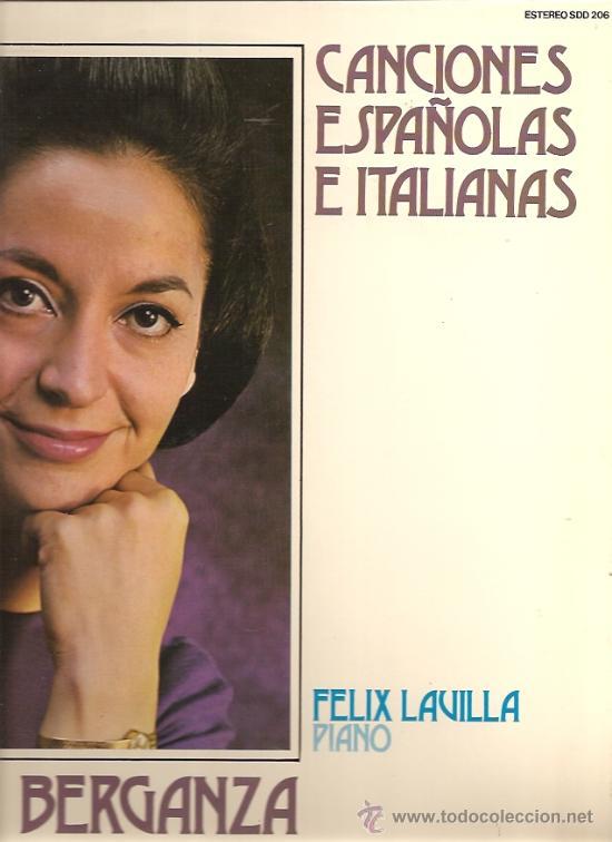 TERESA BERGANZA LP SELLO DECCA AÑO 1976 CANCIONES ESPAÑOLAS E ITLIANAS. (Música - Discos - LP Vinilo - Clásica, Ópera, Zarzuela y Marchas)