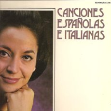 Discos de vinilo: TERESA BERGANZA LP SELLO DECCA AÑO 1976 CANCIONES ESPAÑOLAS E ITLIANAS. . Lote 17614984