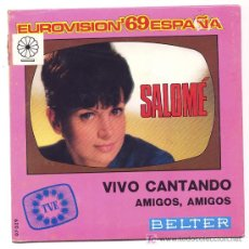 Discos de vinilo: SALOME VIVO CANTANDO. EUROVISION 69 ESPAÑA BELTER. Lote 27254814