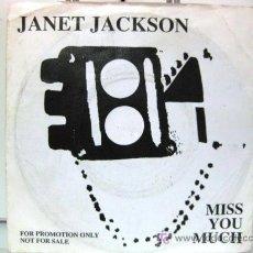 Discos de vinilo: JANET JACKSON - SINGLE - MISS YOU MUCH - A&M 1989 PROMO EDICIÓN ALEMANA BPY. Lote 27410302