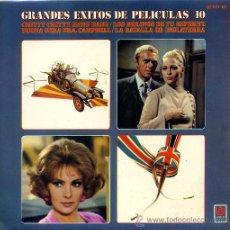 Disques de vinyle: GRANDES EXITOS DE PELICULAS Nº 10 (EP 69) TEMAS EN PORTADA. Lote 17639222