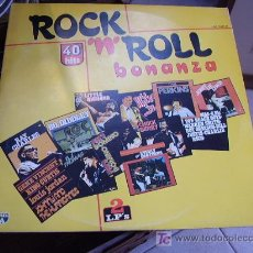 Discos de vinilo: ROCK ´N ROLL BONANZA´40 HITS. Lote 21225906