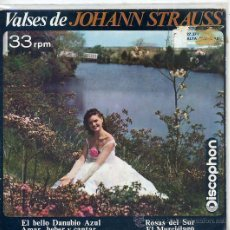 Discos de vinilo: VALSES DE JOHANN STRAUSS / ROSAS DEL MAR + 3 (EP DISCOPHON 27.371) TEMAS EN PORTADA. Lote 17664250