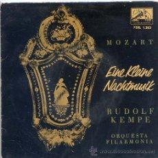 Discos de vinilo: MOZART - ORQUESTA FILARMONICA - RUDOLF KEMPE (EP LA VOZ DE SU AMO 7 ERL 1383). Lote 17664688