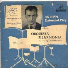Discos de vinilo: ORQUESTA FILARMONICA - IGOR MARKEVITCH (EP LA VOZ DE SU AMO 7 ERL 1062). Lote 17664745